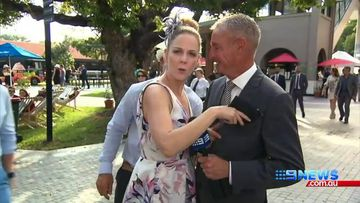 9RAW: Melbourne Cup news report interrupted over missing wallet