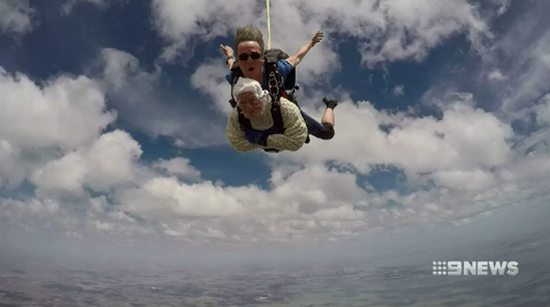 Irene O'Shea holds the title as the world's oldest person to skydive.