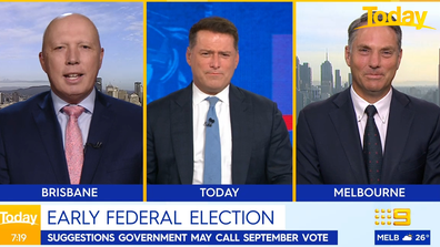 Karl Stefanovic asked Peter Dutton when Australia is heading to the polls.