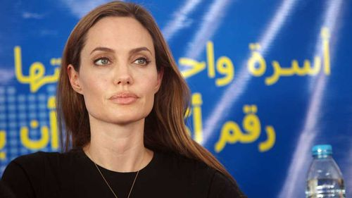 Jolie marking World Refugee Day in Jordan earlier this year. Pic: Getty
