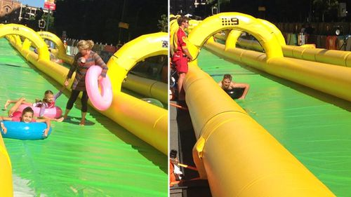 It's a slippery slide through Perth's CBD