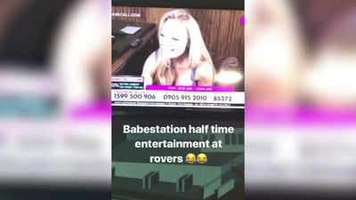 Bristol Rovers tackle X-rated interlude after adult channel shown during League One match