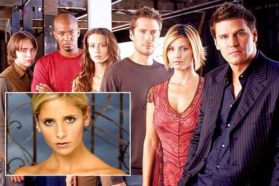 <B>Spun-off from:</B> <I>Buffy the Vampire Slayer</I> (1997 to 2003), starring Sarah Michelle Gellar as a young women who (duh!) slays vampires.<br/><br/><B>Hit or Miss?</B> Hit. Angel, which told the story of Buffy's vampire lover (David Boreanaz) and his monster-fighting club, featured frequent crossovers by <I>Buffy</I>'s characters in early seasons. It even eventually defeated its parent series in the ratings.<br/><br/><B>Factoid:</B> <I>Buffy</I> has existed in several different mediums: the TV show was spun-off from the 1992 film of the same name, and a comic book series continues the vampire slayer's adventures.