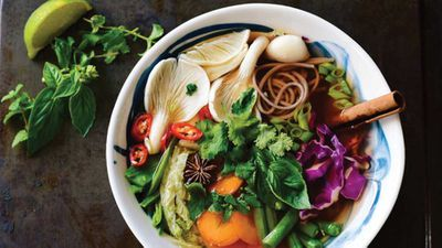 "Recipe: <a href=""http://kitchen.nine.com.au/2018/02/22/09/17/vegan-vietnamese-pho-recipe"" target=""_top"" draggable=""false"">Vegan Vietnamese pho</a>"