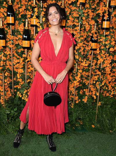 Mandy Moore arrives at the 9th Annual Veuve Clicquot Polo Classic event in Los Angeles, October 6, 2018