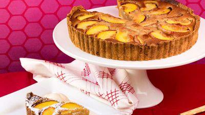 "<a href=""http://kitchen.nine.com.au/2016/12/20/11/13/lyndey-milans-nectarine-and-macadamia-tart"" target=""_top"">Lyndey Milan's macadamia nectarine tart</a>"
