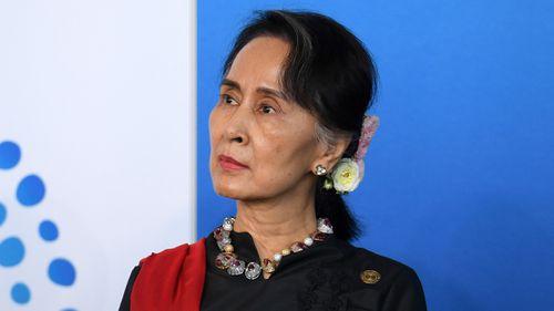 Myanmar's de facto leader Aung San Suu Kyi attended the summit. (AAP)