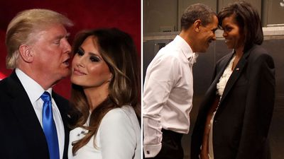 Donald and Melania Trump vs. Barack and Michelle Obama