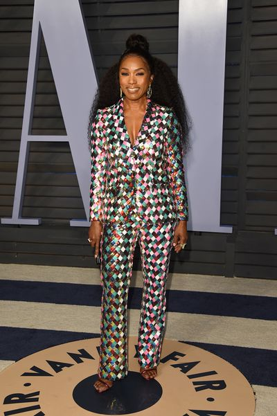 Angela Bassett in Teresa Helbig  at the 2018 Vanity Fair Oscars After Party