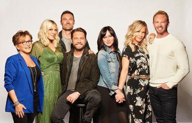 Beverly Hills, 90210 reboot cast: Gabrielle Carteris, Tori Spelling, Brian Austin Green, Jason Priestley, Shannen Doherty, Jennier Garth, Ian Ziering.
