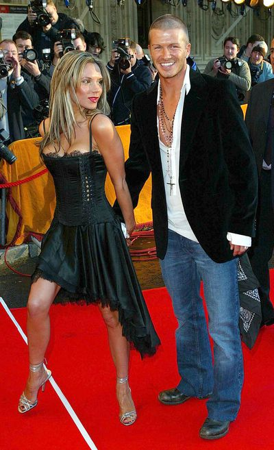 <p><strong>LA Style in London</strong></p> <p>Victoria Beckham and David Beckham during 19 Management Party At The Royal Albert Hall London, April, 2004.</p>