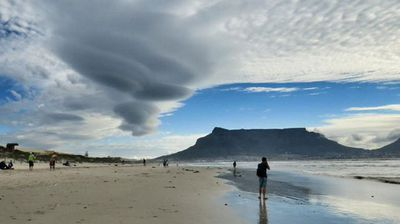 The clouds forming over a beach in Cape Town. (@DiBrown5)