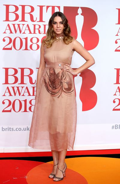 Amber Le Bon at the 2018 Brit Awards