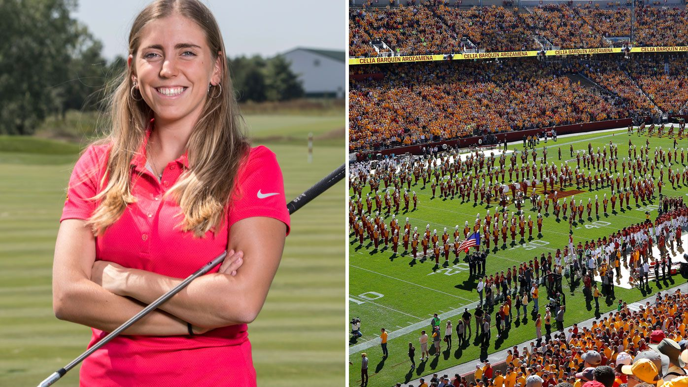 Golfer Celia Barquin Arozamena honoured with touching Iowa State tribute after tragic killing