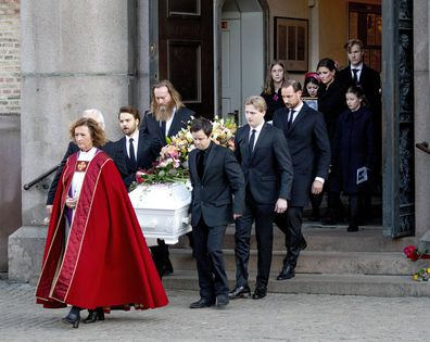 Princess Martha Louise Norway Ari Behn funeral emotional tribute