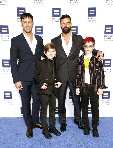 Ricky Martin, Jwan Yosef, sons Valentino and Matteo, Human Rights Campaign National Dinner, event