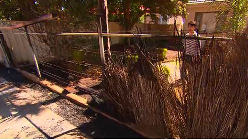 One resident was forced to jump his back fence to escape flames. (9NEWS)