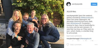 """<p>He's handsome and hilarious too making jokes about pretty much everything - even his child-rearing skills, which we've no doubt are actually awesome.</p> <p>""""I'll raise their two boys as if they were my own - which, frankly, is a terrible thing for all involved.""""</p>"""