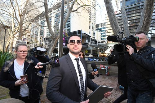 Never one to shy away from the cameras, Mehajer offered a different perspective of himself in court today. Picture: AAP