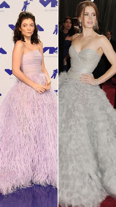 The colours may be different but Lorde and Amy Adams could be birds of the same feather.