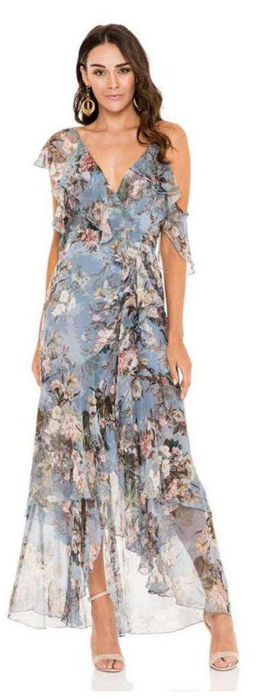 "<p><a href=""https://herwardrobe.com.au/collections/wedding/products/nicholas-arielle-floral-wrap-maxi-dress"">NICHOLAS Arielle Floral Wrap Maxi Dress</a></p> <p>Rental $169</p> <p>Retail $750</p>"