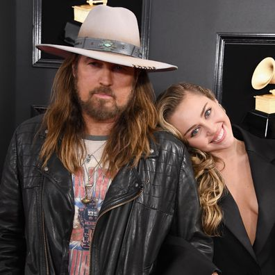 Billy Ray Cyrus, Miley Cyrus, Grammy Awards, Staples Center, 2019, Los Angeles, California