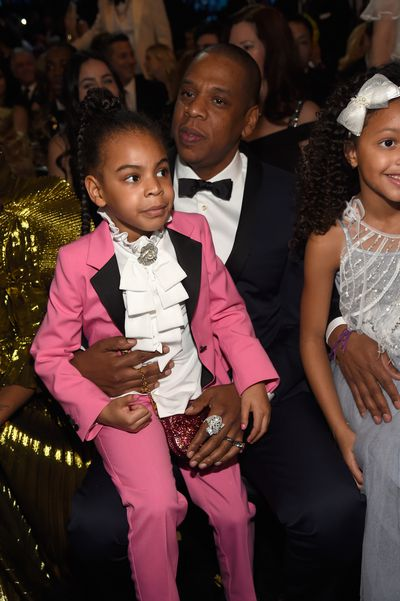 Blue Ivy rocking a pink Gucci suit