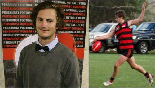 Luke Ferguson, 26, collapsed just before 7pm yesterday at the Penshurst Football Club.