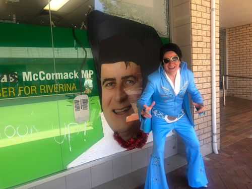 Michael McCormack attended the Parkes Elvis Festival this year.