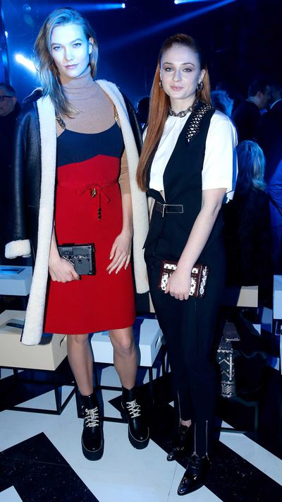 Karlie Kloss and Sophie Turner at Louis Vuitton