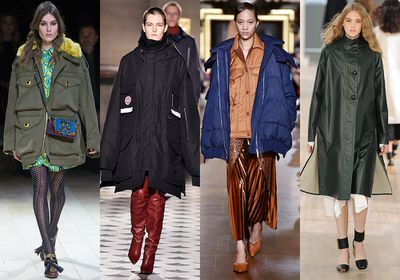 No more soppy shoes, drenched handbags or awkward, inside-out-umbrella moments. Fashion has decreed the humble parka (also known as the anorak or kagoule) very much in vogue. From fur trims to snakeskin finishes, your rainy days just got a whole lot chicer.