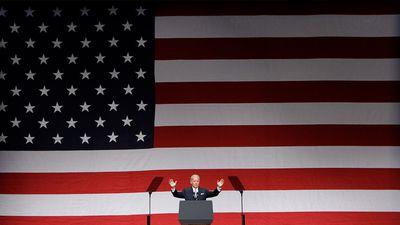 Biden gives a patriotic speech