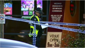 A man is critical after being stabbed in the head at a Melbourne pub early this morning.