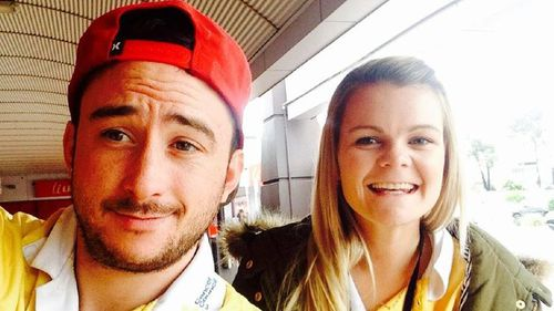 Car crash victim Jamie Dumbleton and driver Rebecca Greatley.