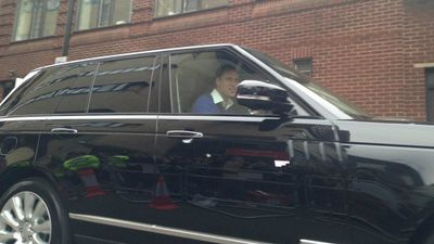 Prince William drives Duchess Kate and their new daughter away from the hospital. (9NEWS)