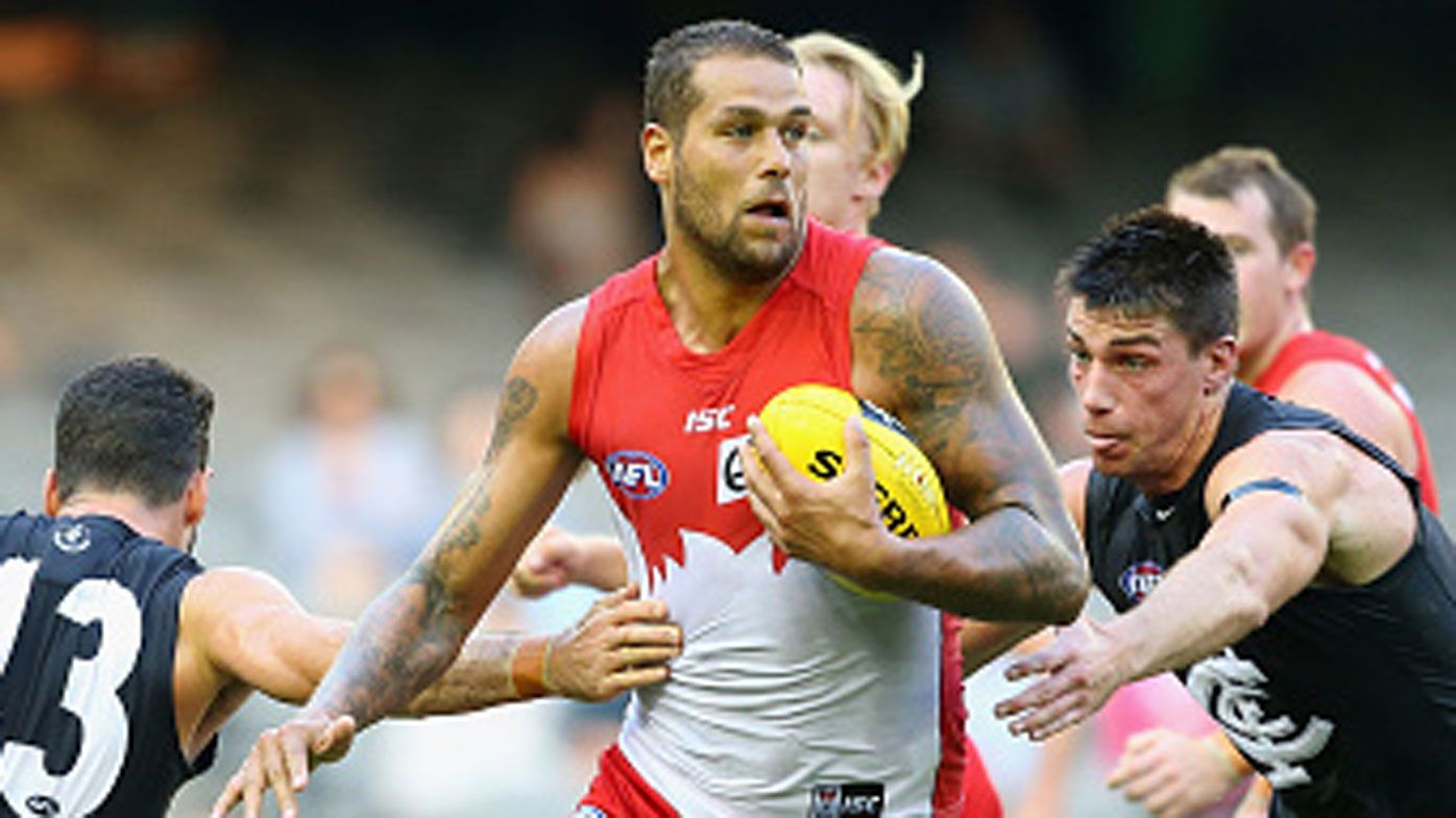 Lance Franklin. (Getty)