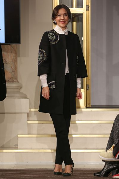 Crown Princess Mary of Denmark attends the Designers Nest Show during Copenhagen Fashion Week Autumn/Winter '17 on January 31, 2017.