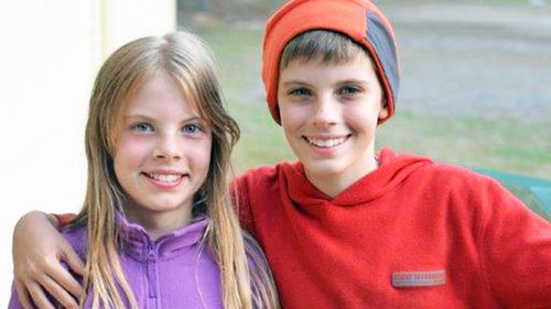 Patrick Suiter, pictured with his twin sister, became aggressive and anxious while taking Singulair, his mother says