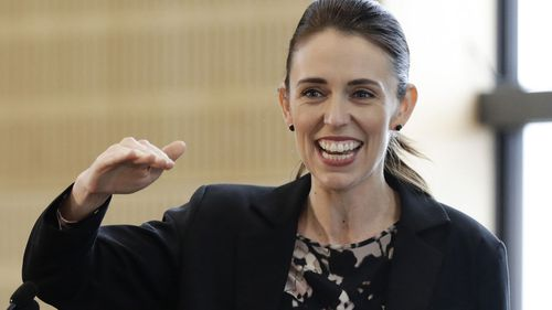 New Zealand Prime Minister Jacinda Ardern gestures during the opening ceremony for Redcliffs School in Christchurch, New Zealand (Photo: June, 2020)