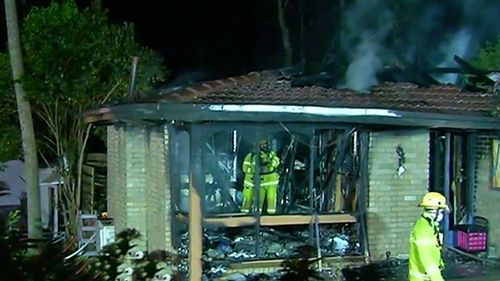 The home in Upwey was gutted by fire overnight.