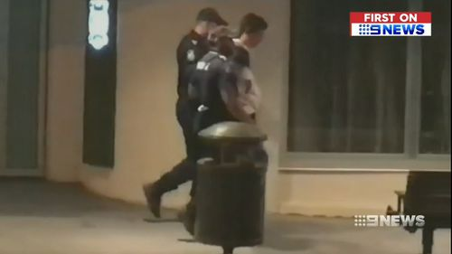 Police issued seven fines following the incident. (9NEWS)