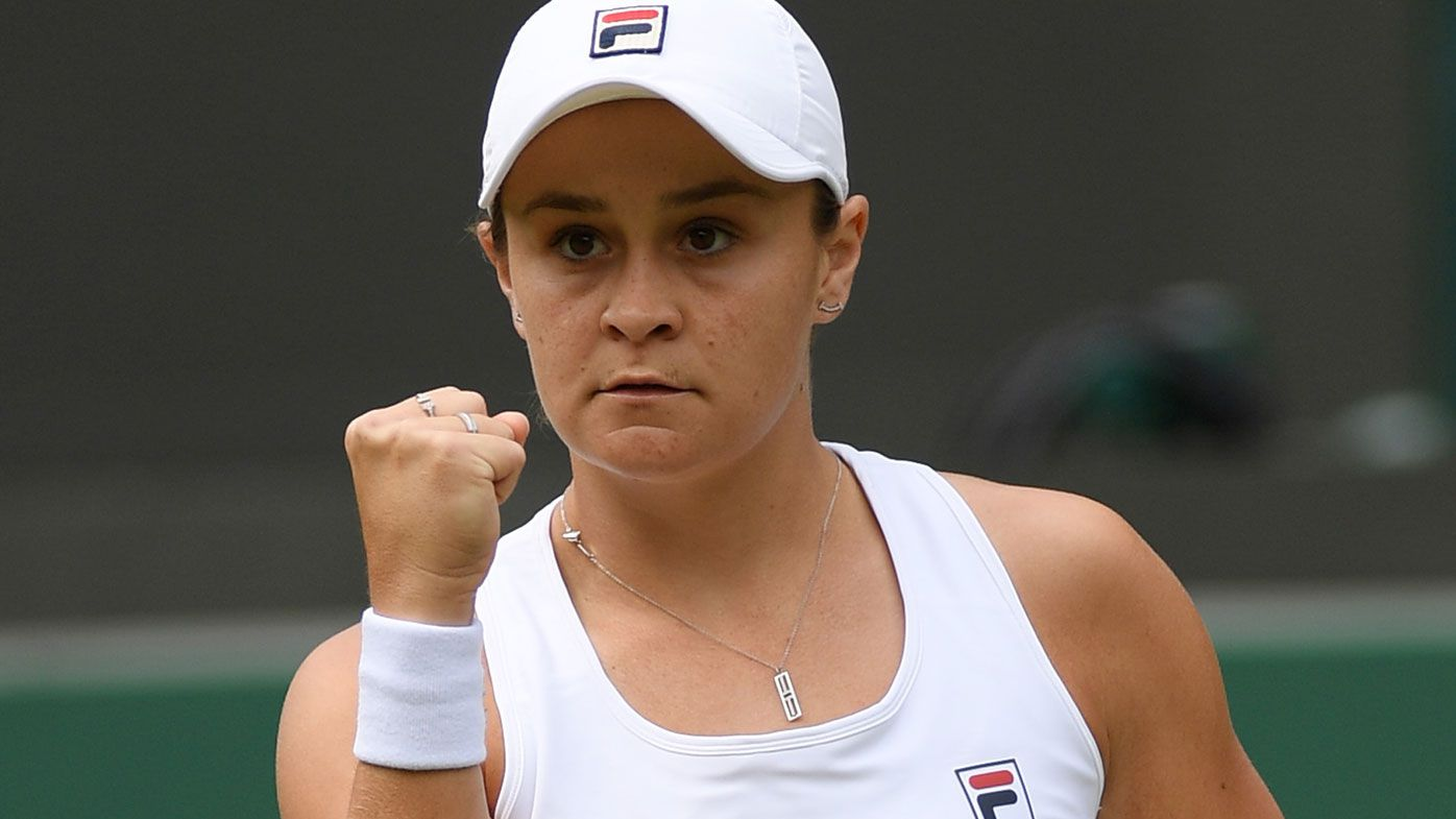 Ash Barty downs Barbora Krejčíková to storm into first Wimbledon quarter-finals