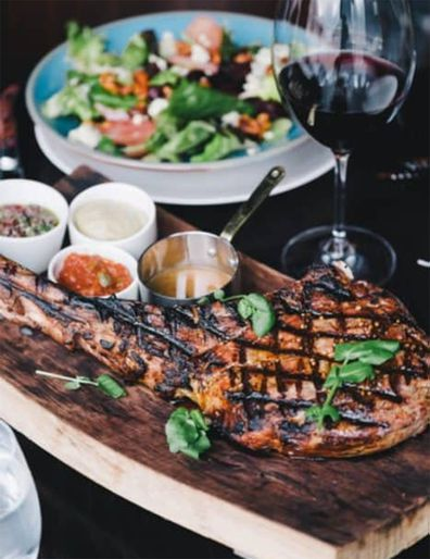 The Grille tomahawk steak