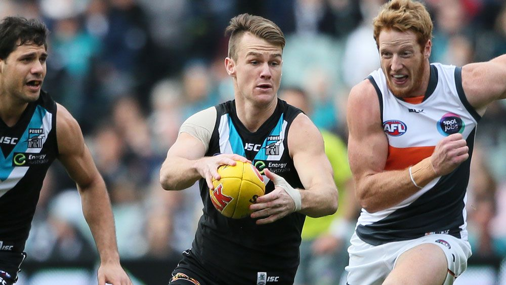 Robbie Gray in action for Port Adelaide. (AAP)