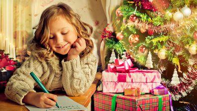 Stock image letter to santa