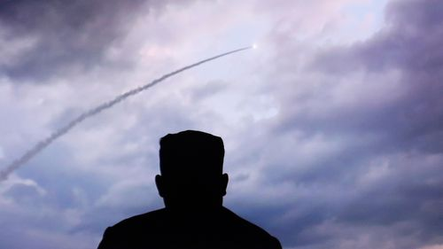 North Korea's multiple rocket launches were broadcast on a news program