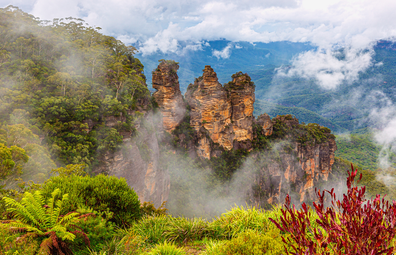 The Three Sisters in the Blue Mountains, NSW.