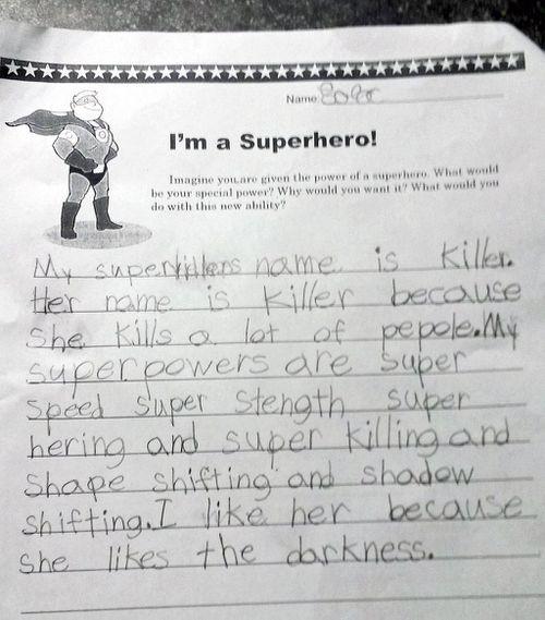 'My daughter, future serial killer': man shares daughter's disturbingly funny homework
