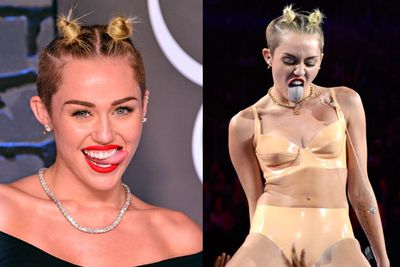 What's scarier: Miley tongue or her Minnie Mouse-inspired hair?