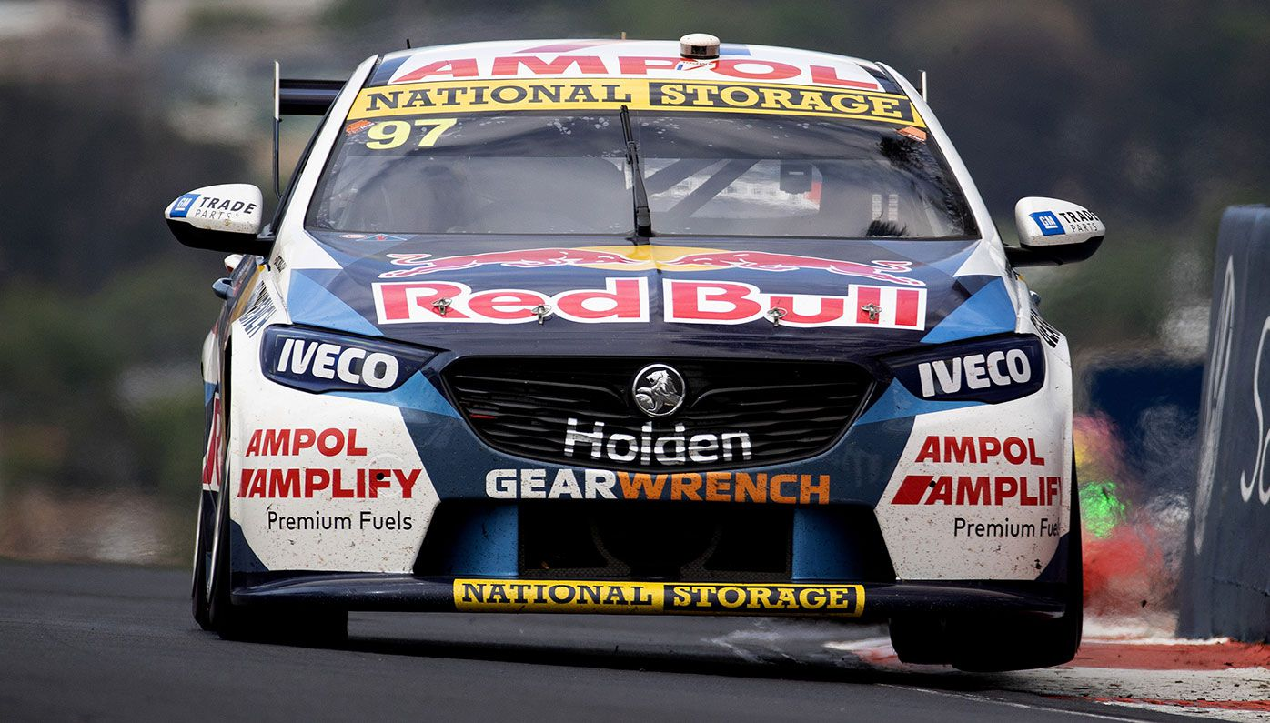 The Shane van Gisbergen/Garth Tander Commodore during the Bathurst 1000.